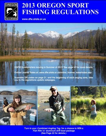 2013 OregOn SPOrT FISHIng regulaTIOnS - Oregon Department of ...