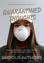 Quarantined Thoughts Vol 3
