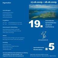 19. Sportmedizinischen Symposiums Insel Reichenau