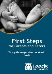 First Steps For Parents and Carers - Your guide - The Family Hub