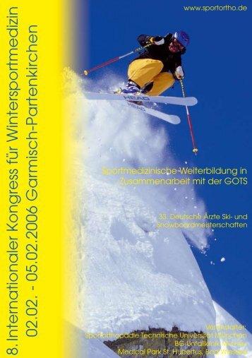 05.02.2006 G a rm isc h - Abteilung und Poliklinik für Sportorthopädie