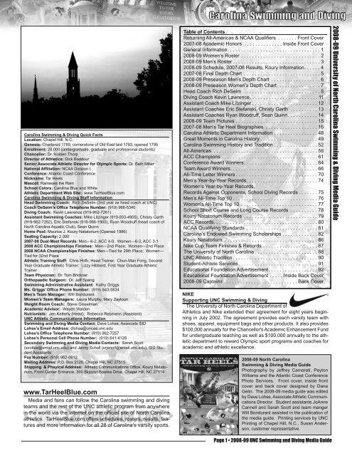 Media Guide - University of North Carolina