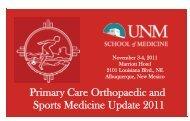 2011 PC Ortho Sports Med Brochure V2 - University of New Mexico