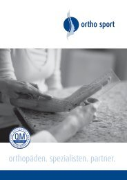 ortho sport - orthopäden. spezialisten. partner - orthopaedie-kronach