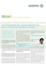 move! - Mathys AG Bettlach