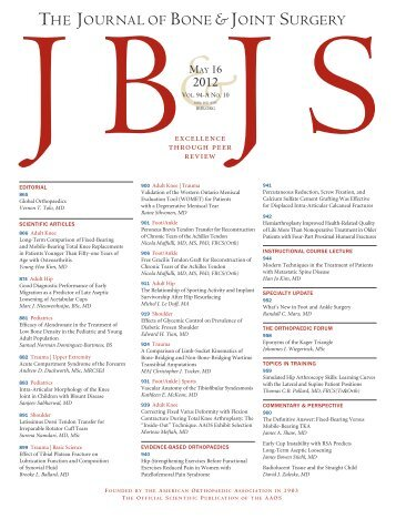 Cover - The Journal of Bone & Joint Surgery