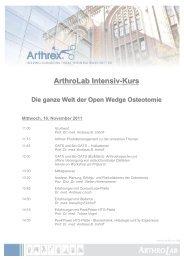 ArthroLab Intensiv-Kurs Die ganze Welt der Open Wedge Osteotomie