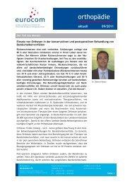 orthopädie aktuell September 2011 - Eurocom
