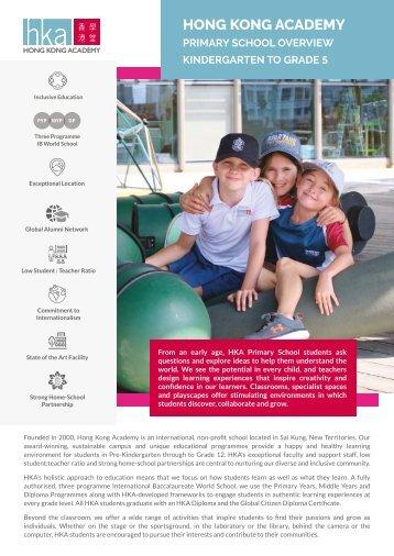 HKA Primary School Overview 2021