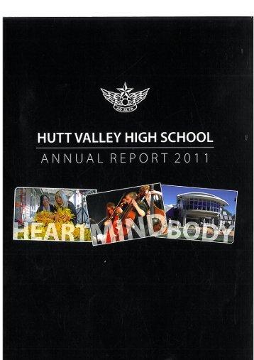 HVHS Annual Report 2011 - Hutt Valley High School