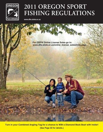 2011 OregOn SPOrT FISHIng regulaTIOnS - Oregon Department of ...