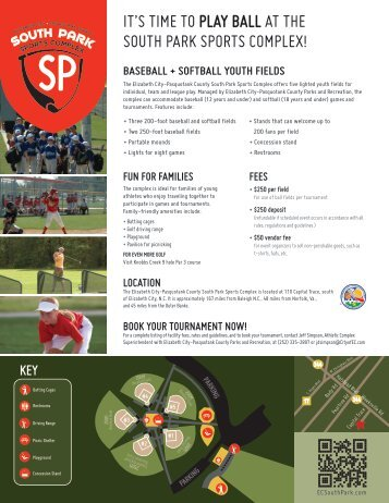it's time to play ball at the south park sports complex! - Elizabeth City ...