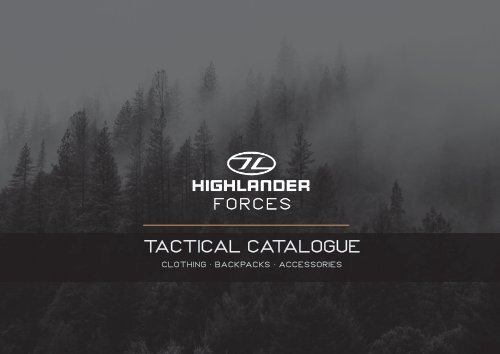 Highlander Forces Tactical Catalogue SS21