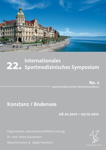 22. Internationales Sportmedizinisches Symposium Konstanz ...