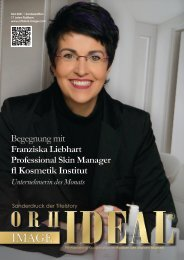 Preview - Franziska Liebhart FL Kosmetikinstitut Erfolg Story - Orhideal IMAGE Magazin Mai 2021
