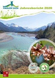Naturpark Tiroler Lech - Jahresbericht 2020