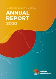 IfE - Annual Report 2020
