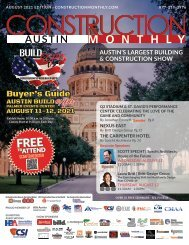 Construction Monthly Magazine   Austin Build Expo Show Edition