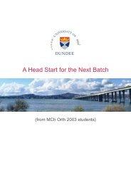 Head Start Document.cdr - University of Dundee