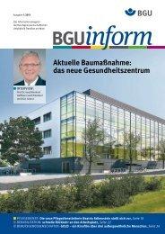 bguinform 1/2013 (PDF) - Berufsgenossenschaftliche Unfallklinik ...