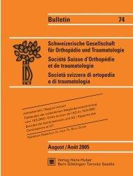 Bulletin 74 - Schweizerische Gesellschaft für Orthopädie und ...