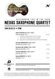 Sessions: Nexas Saxophone Quartet