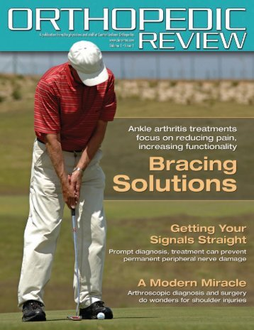 orthopedic magazines - Central Indiana Orthopedics