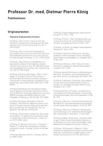 Vorsitz Wissenschaftlicher Ver- anstaltungen - Orthopädie Viersen