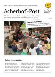Acherhof-Post Nr. 24   19. März 2021