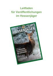Leitfaden Veröffentlichungen im Hessenjäger