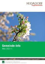 Gemeindeinfo März 2021 - Ausgabe 1