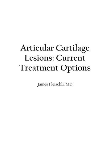 articular cartilage lesions a practical guide Articular cartilage lesions by brian j cole, 9781475792898, available at book depository with free delivery worldwide.