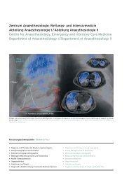 Zentrum Anaesthesiologie, Rettungs- und Intensivmedizin Abteilung ...