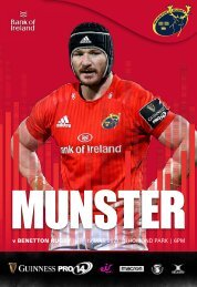 Munster Rugby v Benetton Rugby Match Programme