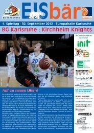 BG Karlsruhe : Kirchheim Knights