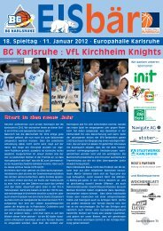 BG Karlsruhe : VfL Kirchheim Knights