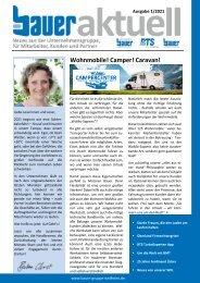 Bauer aktuell - Ausgabe 1/2021 - für Mitarbeiter, Kunden und Partner