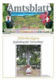 Tourist-Information/Verkehrsverein Durbach in der Zeit vom 30 ...