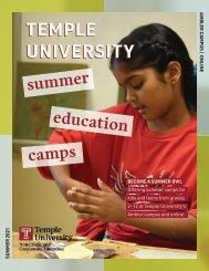 Temple University Summer Education Camps 2021