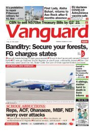 19032021 - Banditry: Secure your forests, FG charges states