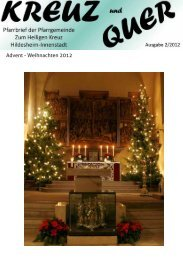 Advent - Weihnachten 2012 - Bistum Hildesheim