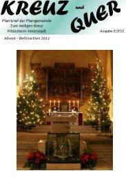 Advent - Weihnachten 2012 - Bistum Hildesheim