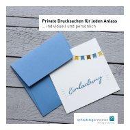Private Drucksachen für jeden Anlass - individuell und persönlich