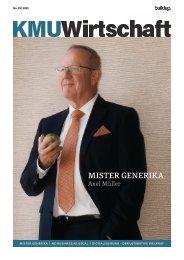 KMU Wirtschaft 1/2021 mit Mister Generika