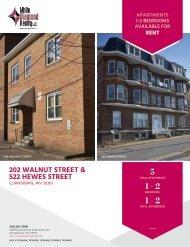 202 Walnut Street / 522 Hewes Street Marketing-Flyer