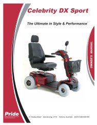 AUS_ Celebrity DX Sport om.p65 - Pride Mobility Products