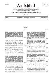Amtsblatt der Bayerischen Staatsministerien für Unterricht und ...