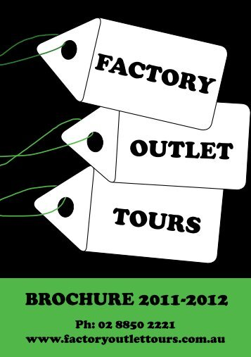 OUTLET FACTORY - Factory Outlet Shopping Tours in Sydney
