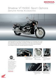 Shadow VT750DC Sport Options - Doble Motorcycles