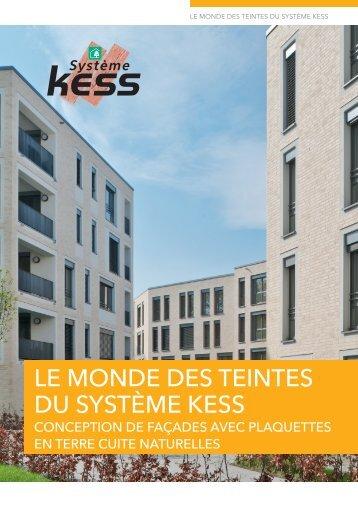 Conception de facades avec plaquettes système kess